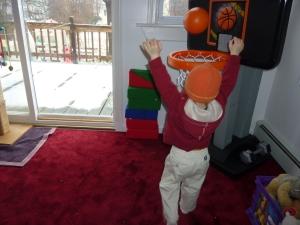 Score on my new basketball hoop!