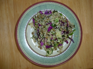 Lentil Quinoa Salad - with Cabbage