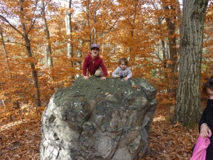 Two kids on a rock!