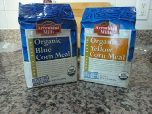 Two colors of cornmeal - so many choices!