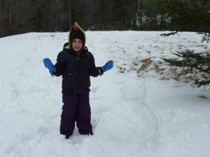 Snow Man Building in VT (Even more exciting that indoor snow plowing!)