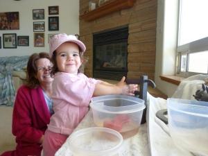 Playing at Grandma and Grandpa's house!