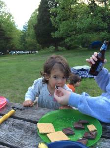 Mmm . . . s'mores (and yes, mmm . . . beer for grownups)