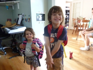 Big kids with backpacks!
