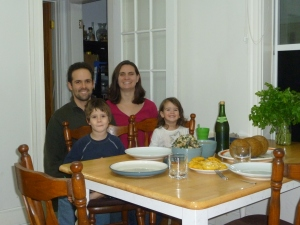 Our Thanksgiving picture. LP almost smiled for this one!