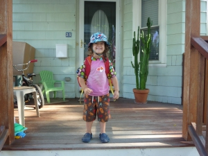 "Gratuitous back-to-school picture for our ""little"" one!"