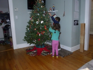 Decorating the tree - another family tradition!