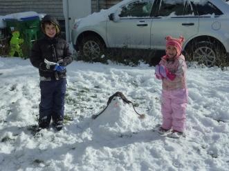 We took a short Lego break to build a snowman too!